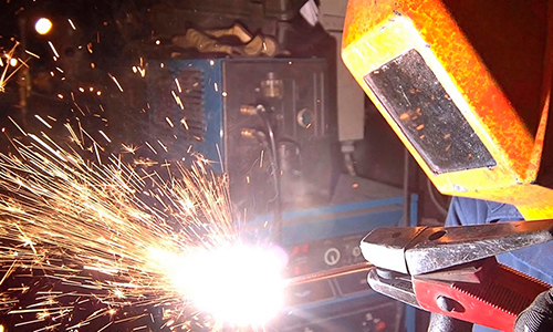 Welding fire picture